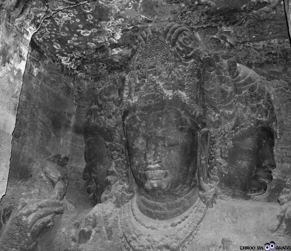 T,wednesday,abc,wordless,,praveen,pravs,elephanta caves, mumbai, Trinity, sculpture,statue,terrific,maharashtra,bangalore,throo da looking glass