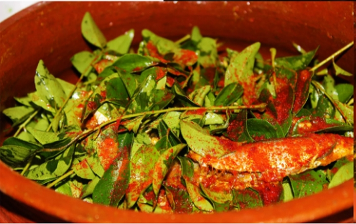 Sardine curry infused with Curry Leaves